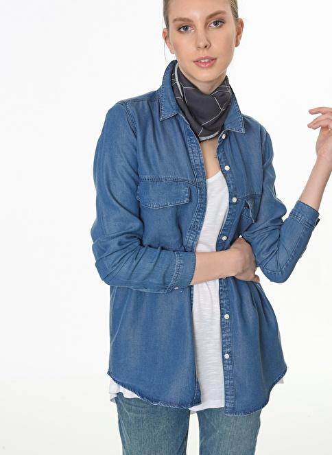 Fashion Friends Uzun Gömlek Mavi